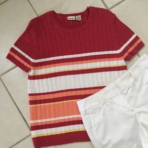 Sweaters - Cherokee multicolored short sleeve shirt